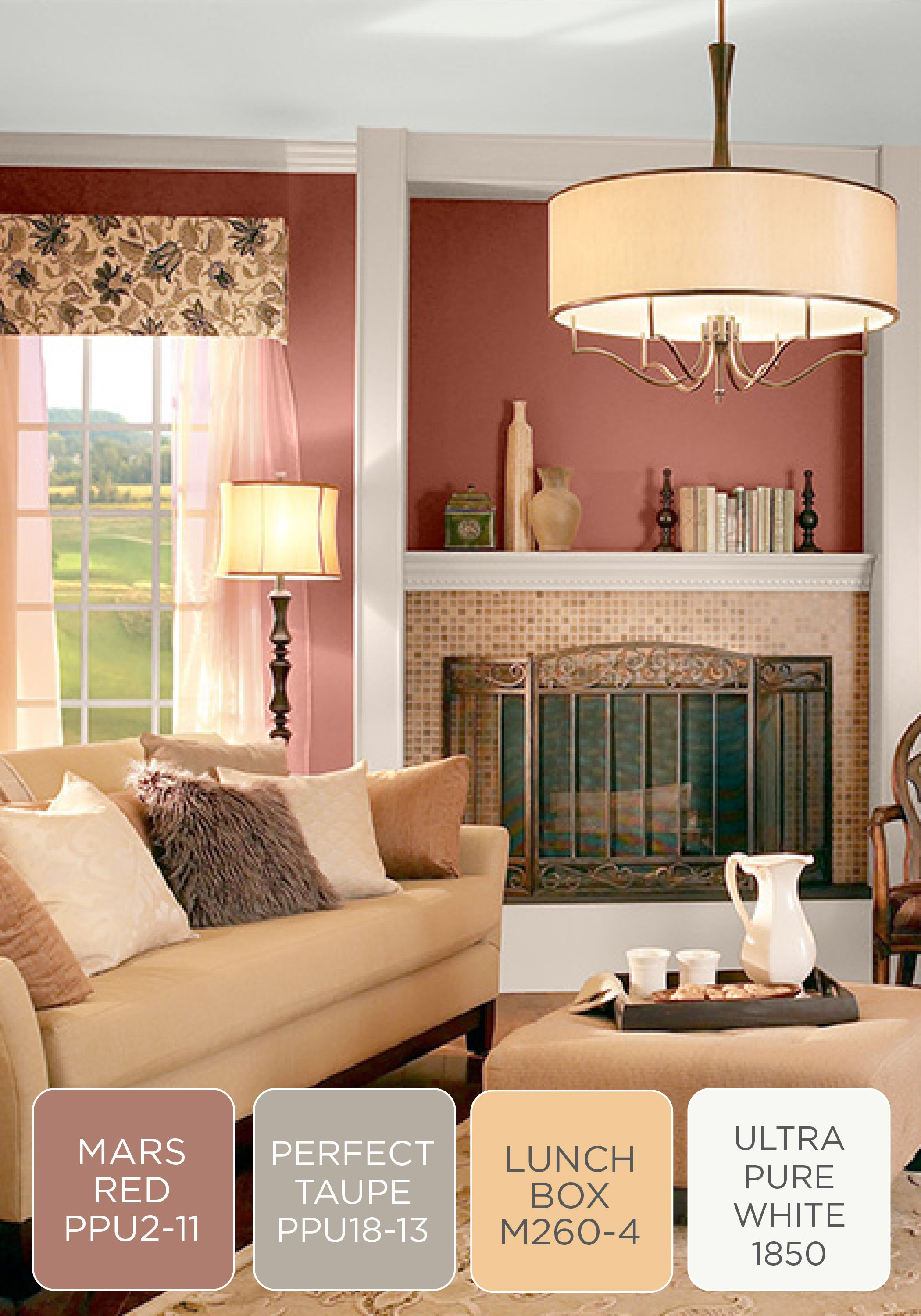 cozy with a touch of behr paint in tuscan elegance this on color schemes for living room id=47311