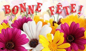 Carte Bonne Fete Julie Gratuite.Bonne Fete Avec Des Fleurs Bonne Fete Happy Birthday Voeux De