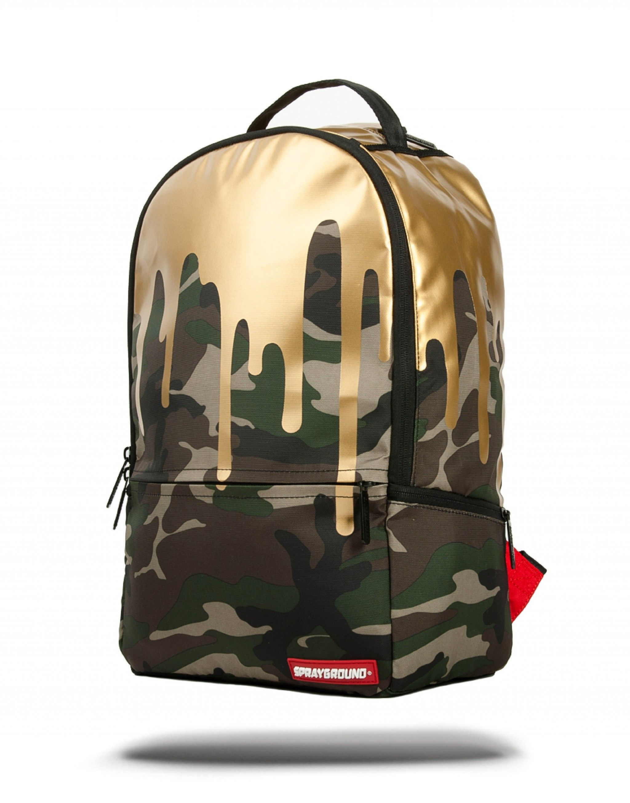 camo gold drips sprayground backpacks bags and accessories