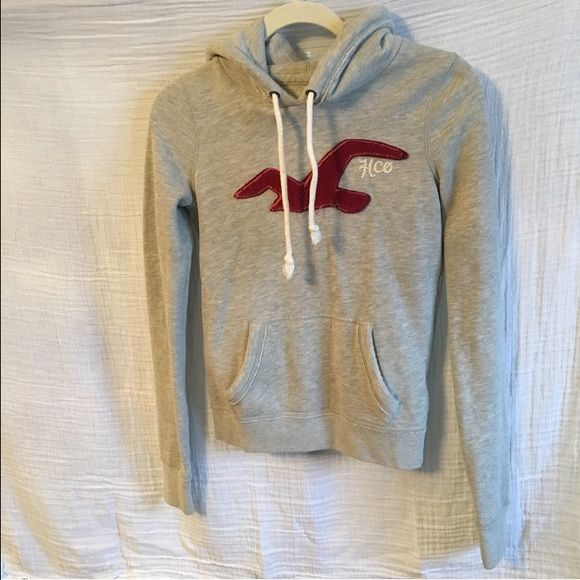 Hollister Sweatshirt Great condition! Light grey. Size small. Hollister Tops Sweatshirts & Hoodies