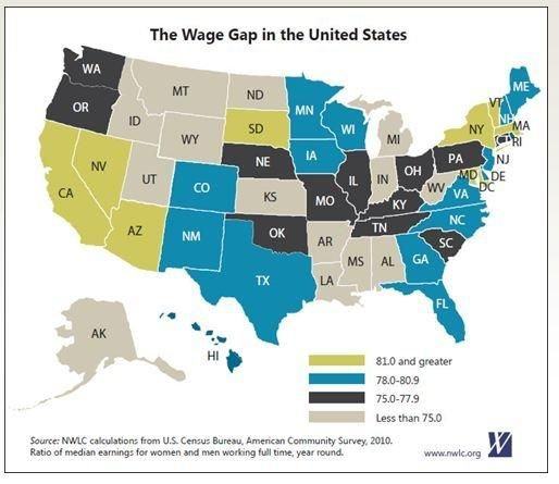 Equal pay for equal work...the gender wage gap by state