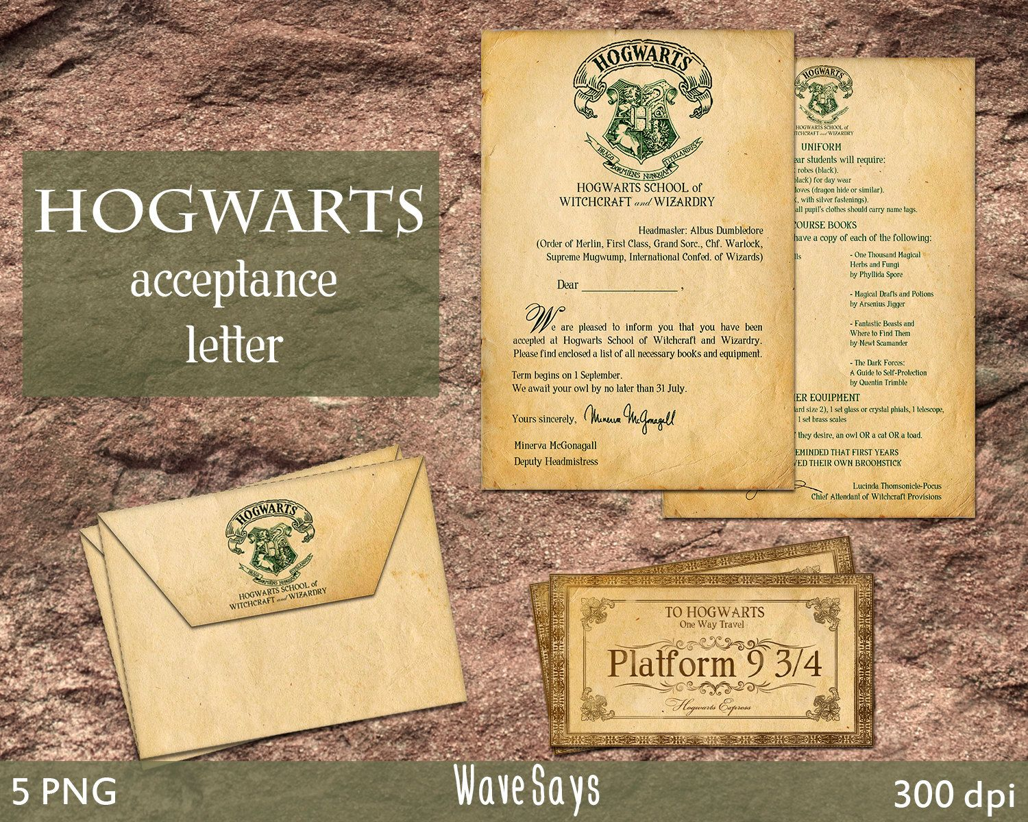 printable envelope templates from our shop on etsy welcome hogwarts acceptance letter ready for print easy to use