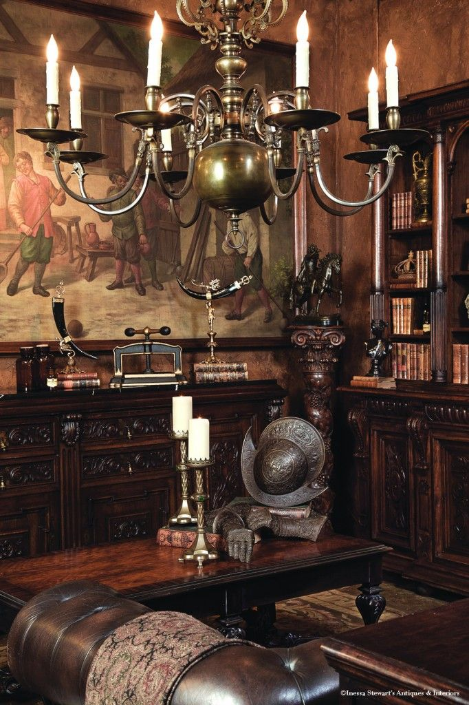 Antiques In Style Into The Library Traditional Interior Design Home Decor English Decor