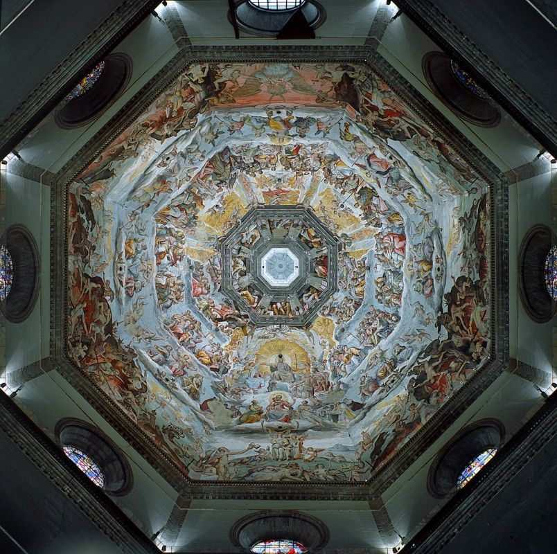 Pin By Adil Taj On Ceiling In 2019: The Cupola Of #Florence Cathedral By Filippo Brunelleschi