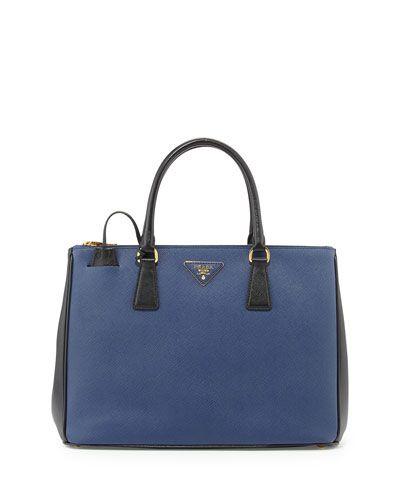 43f83dbb5a61 Shop All Designer Handbags at Neiman Marcus. V24J8 Prada Saffiano Lux  Bicolor Double-Zip Tote Bag