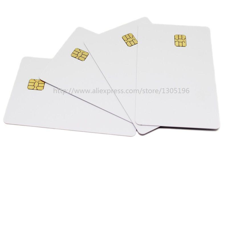 (10 개/몫) SLE 4442 칩 PVC 스마트 카드 빈 IC 카드 ISO7816