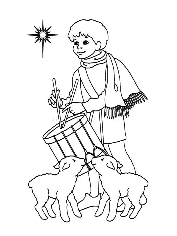 Coloring Page Drummer Boy