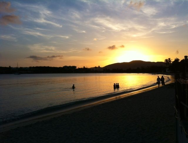 Sunset Emerald Beach St Thomas USVI