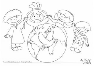 Peace Day For Kids Family Coloring Pages Preschool Coloring Pages Coloring Pages