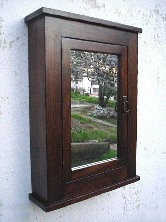 Rustic Mission Medicine Cabinet / Dark Finish (With images ...