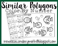 Free Similar Polygons Color By Number Activity Worksheet Geometry