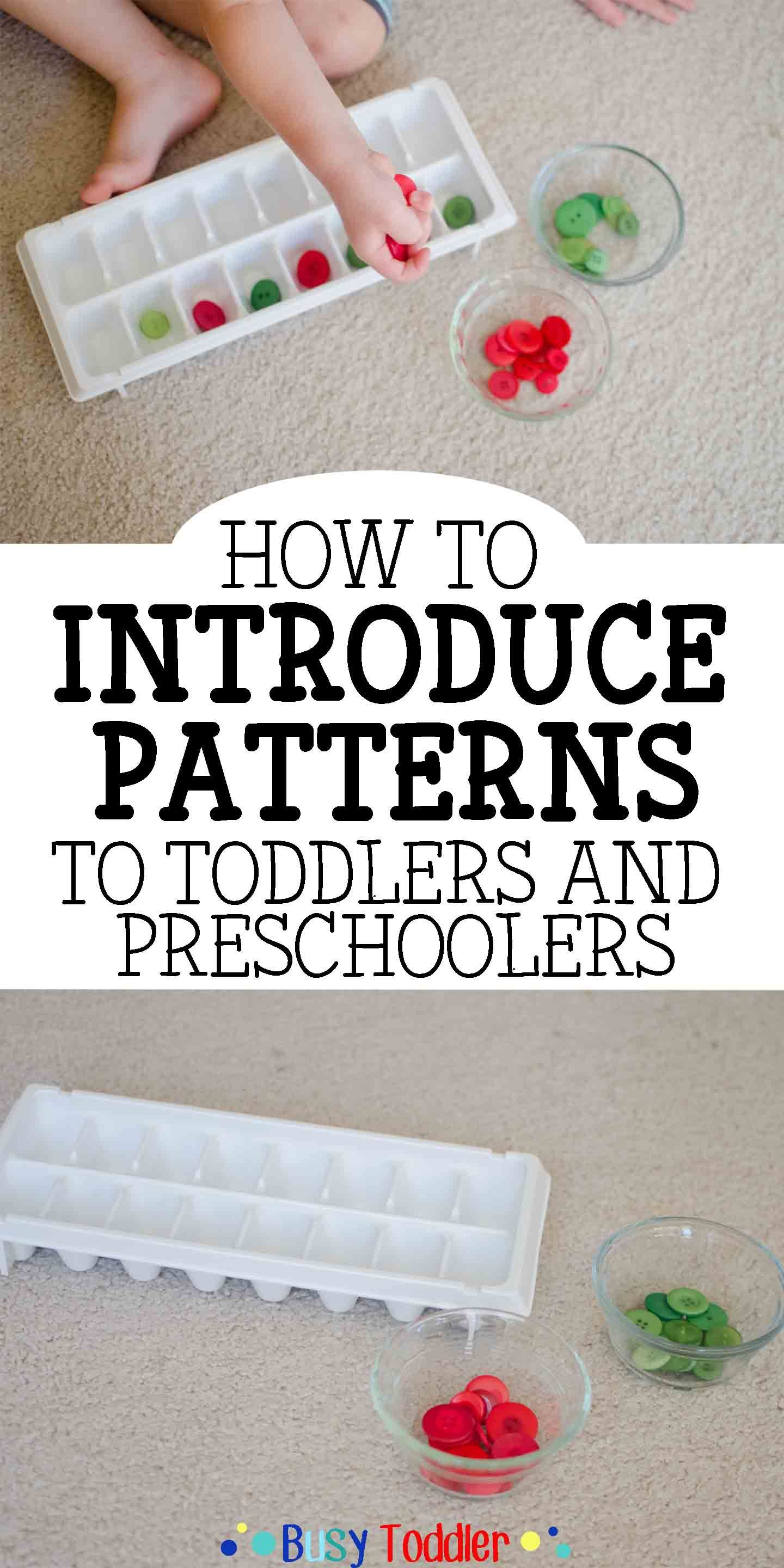 Introducing Patterns To Toddlers Preschoolers Preschool