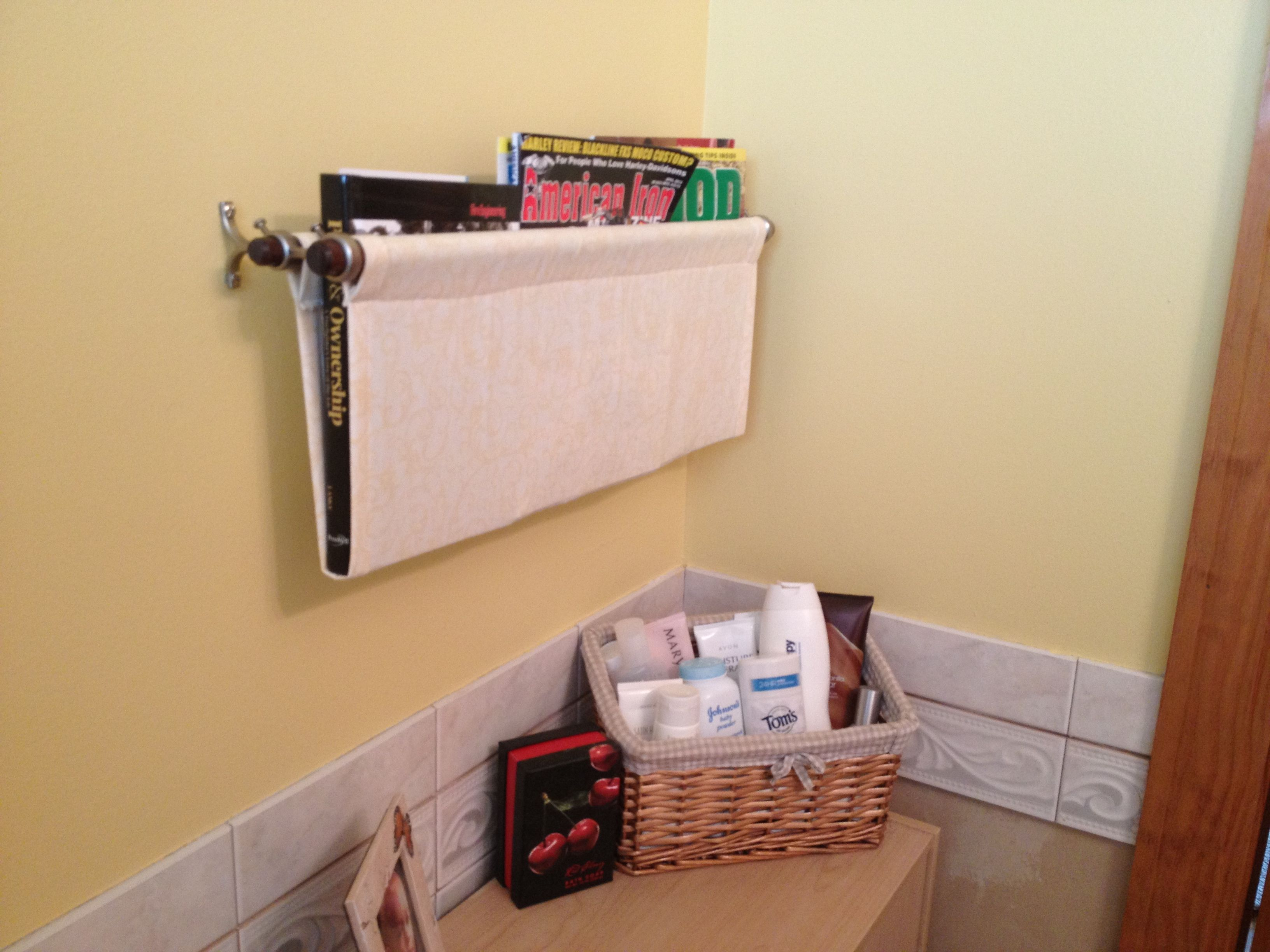 Bathroom Magazine Rack Easy To Do Drapery Dowel Rods And 1