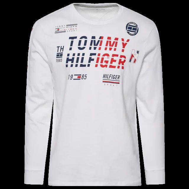 Tommy Hilfiger Spartan L S T Shirt Men S Champs Sports Long Sleeve Tshirt Men T Shirt Mens Shirts