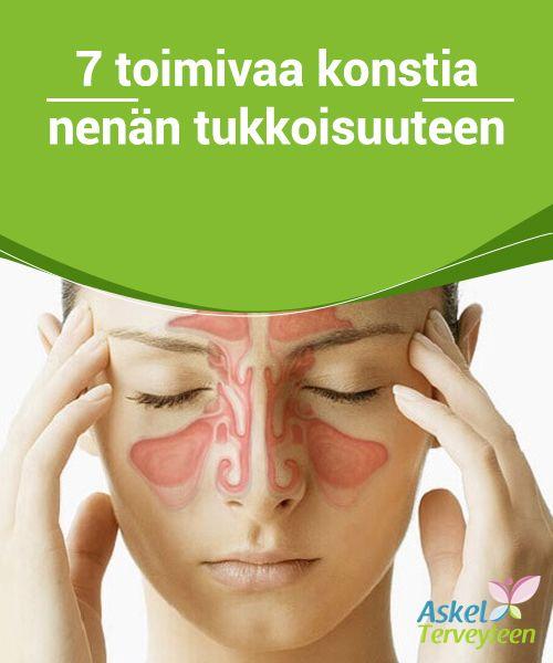 7 toimivaa konstia nenän tukkoisuuteen  Nenän tukkoisuus on erittäin kiusallinen, #allergioiden tai #hengitysteiden sairauksien aiheuttama vaiva, johon kuuluu nenän #limakalvojen tulehdus.  #Luontaishoidot