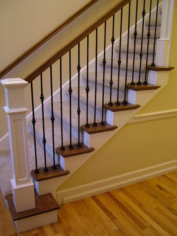 Iron Balusters … | Staircase remodel, Wrought iron stair ...