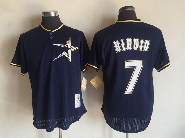 2017 MLB Houston Astros 7 Craig Biggio Blue Throwback