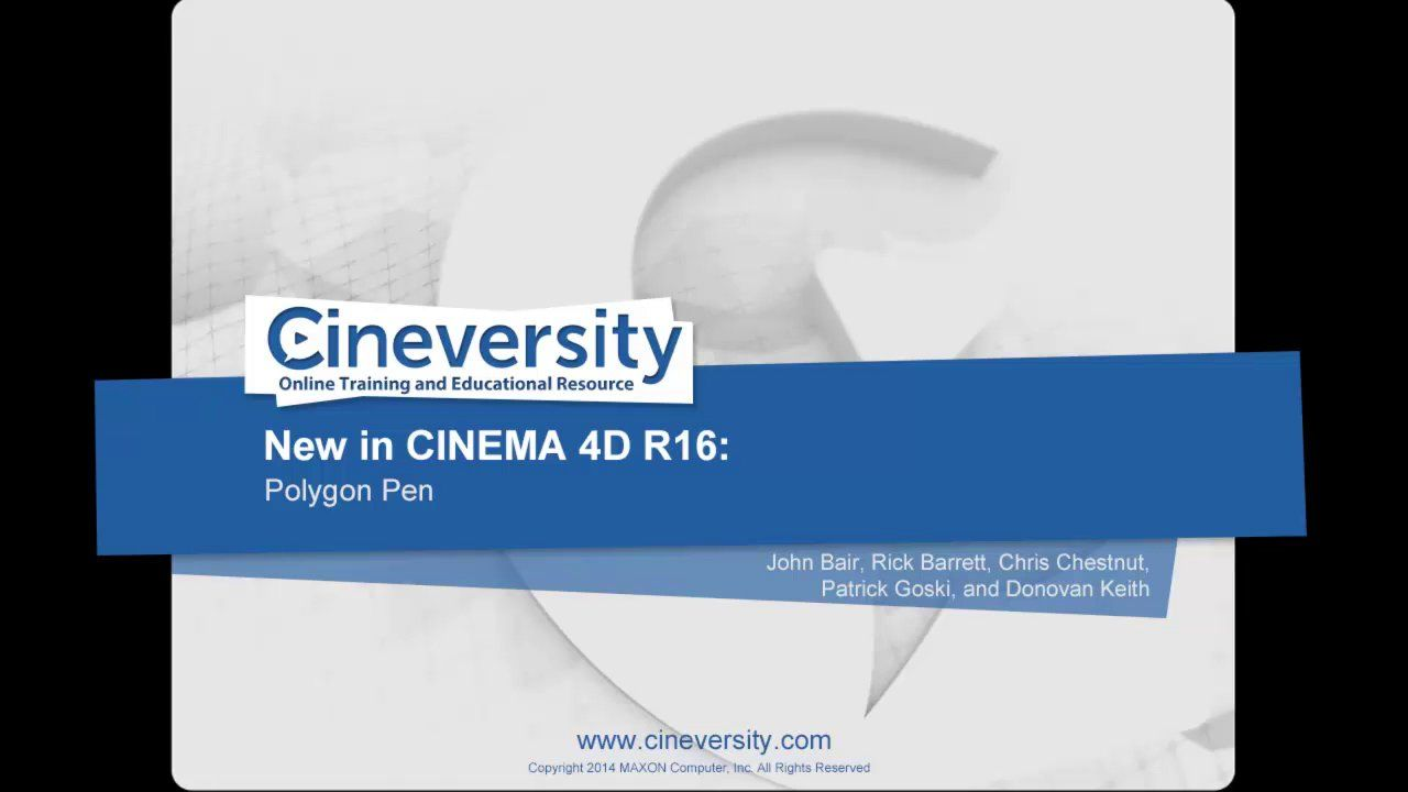 New in Cinema 4D R16: Polygon Pen on Vimeo
