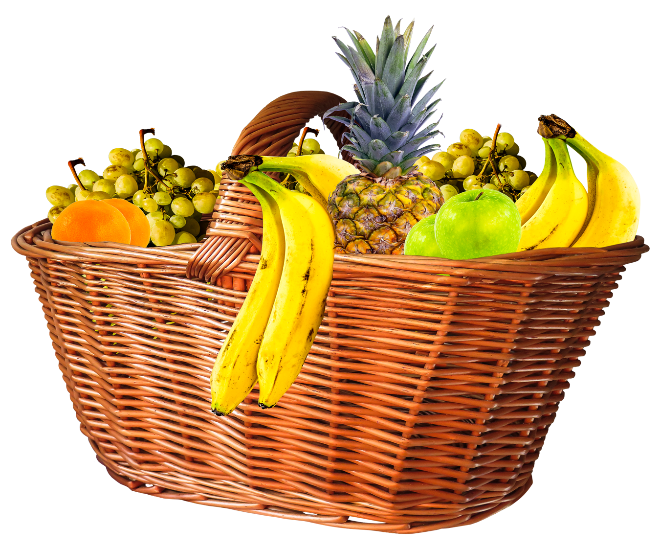 Fruit Basket PNG Image | Fruit basket, Green grapes, Free png
