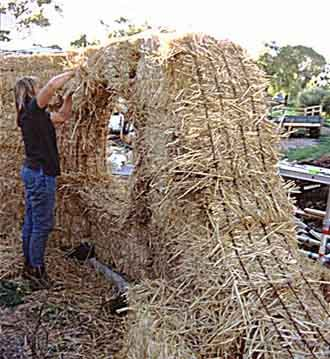 Straw Bale Wall Pic 1 Eco Building Pinterest Straw