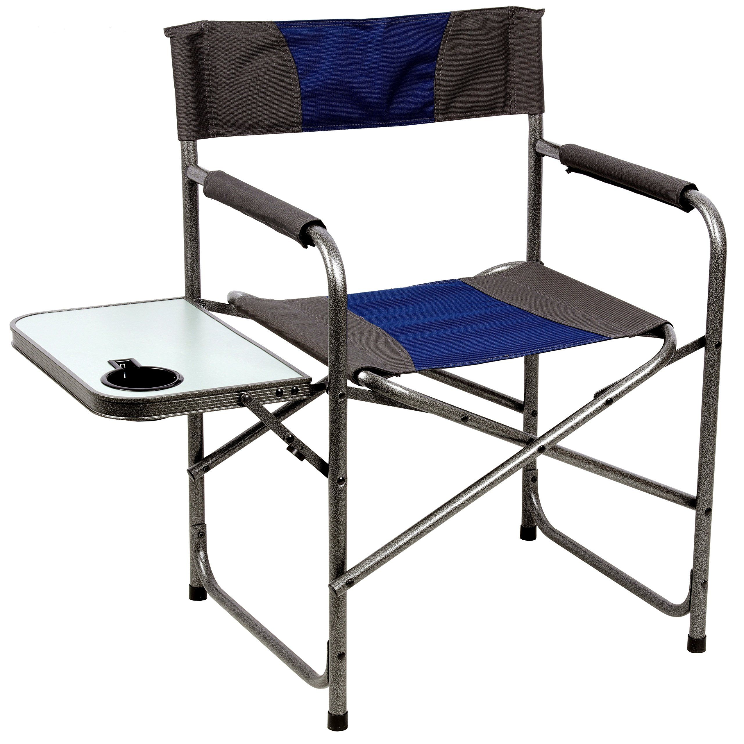 Onwaysports Aluminum Frame Director Chair With Side Table Lightweight Foldable Portable For Camping 2 Pack Review Camping Chairs Directors Chair Side Table