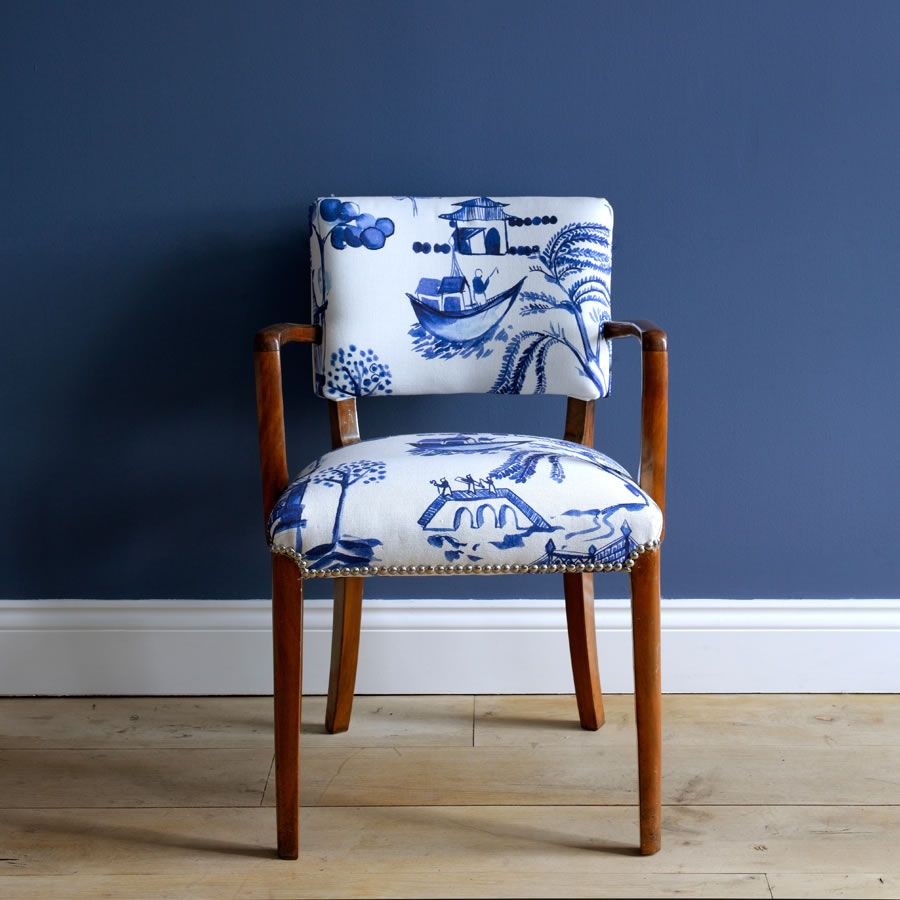 Chair Upholstered In Bluebellgray Willow Fabric Fabrics