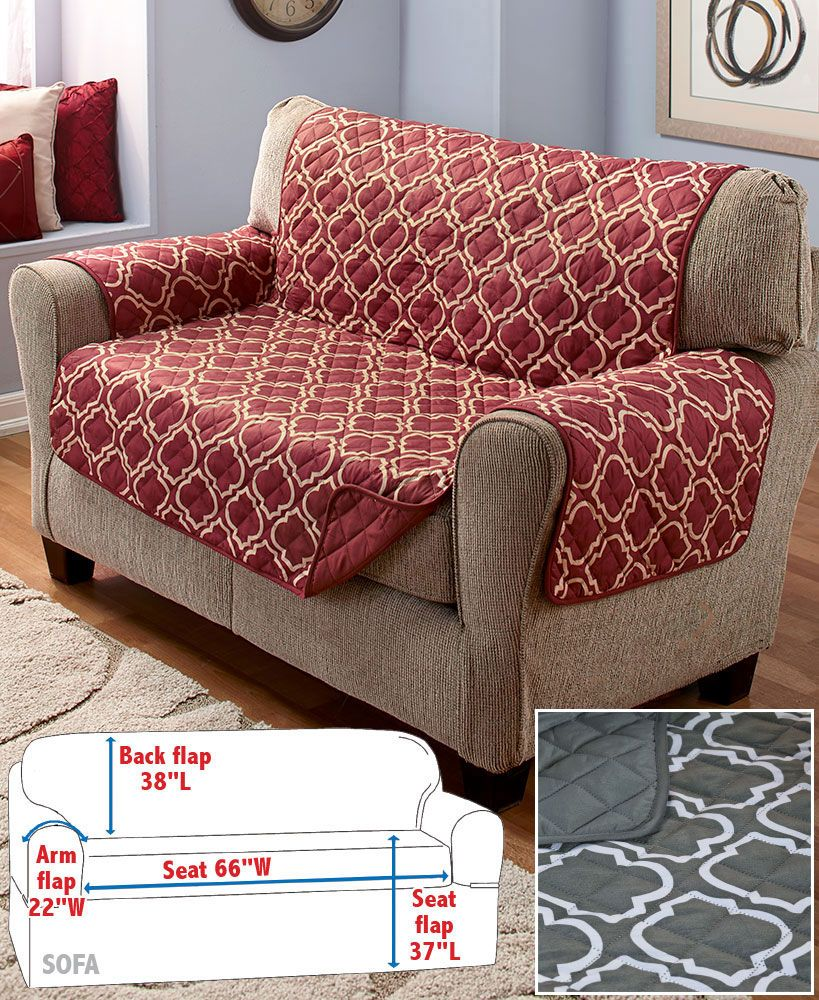 Velvet Sofa Wear And Tear Reversible Lattice Print Furniture Covers Apartment Ideas