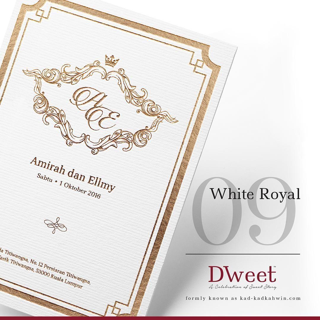 White Royal 09 New Collection White Royal Khas Untuk Mereka Yang Menyukai Design Simple Te Invitations White Kad Kahwin Wedding Invitations