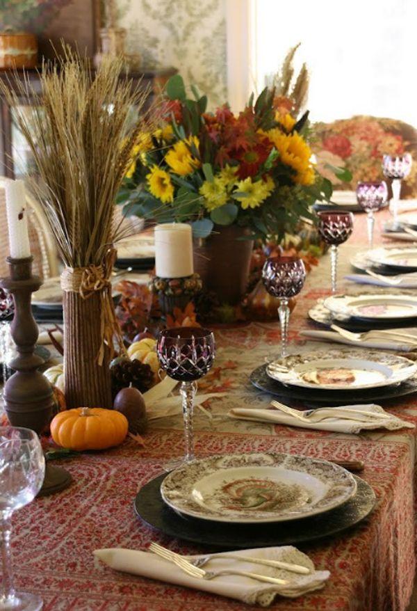 thanksgiving table setting ideas pinterest google search - Thanksgiving Table Settings Pinterest