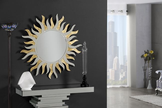 espejos forma sol espejos en dorado espejos para salon espejos