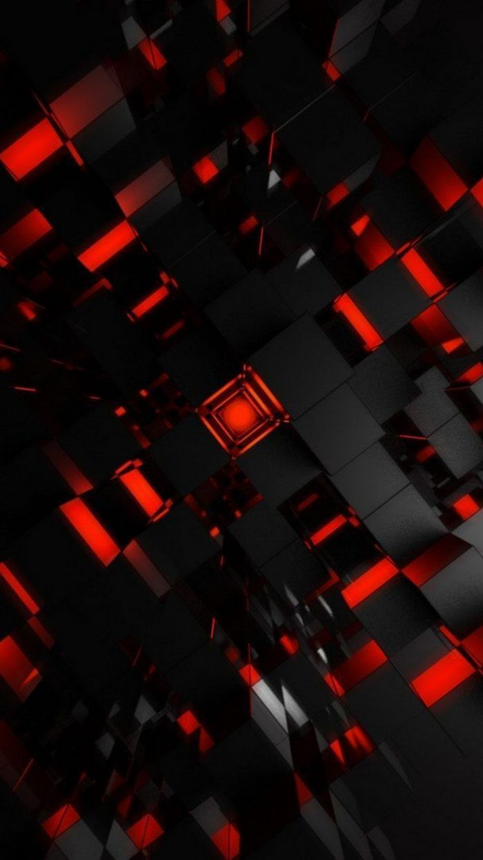Black And Red Abstract Mobile Wallpaper