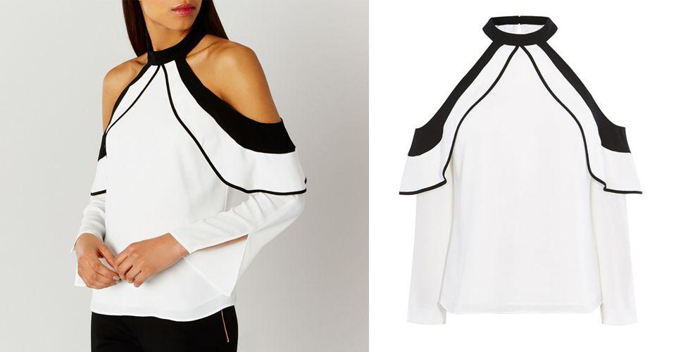 355faf82b68 Olivia Palermo's High Street Collaboration | Cold shoulder, Shoulder ...