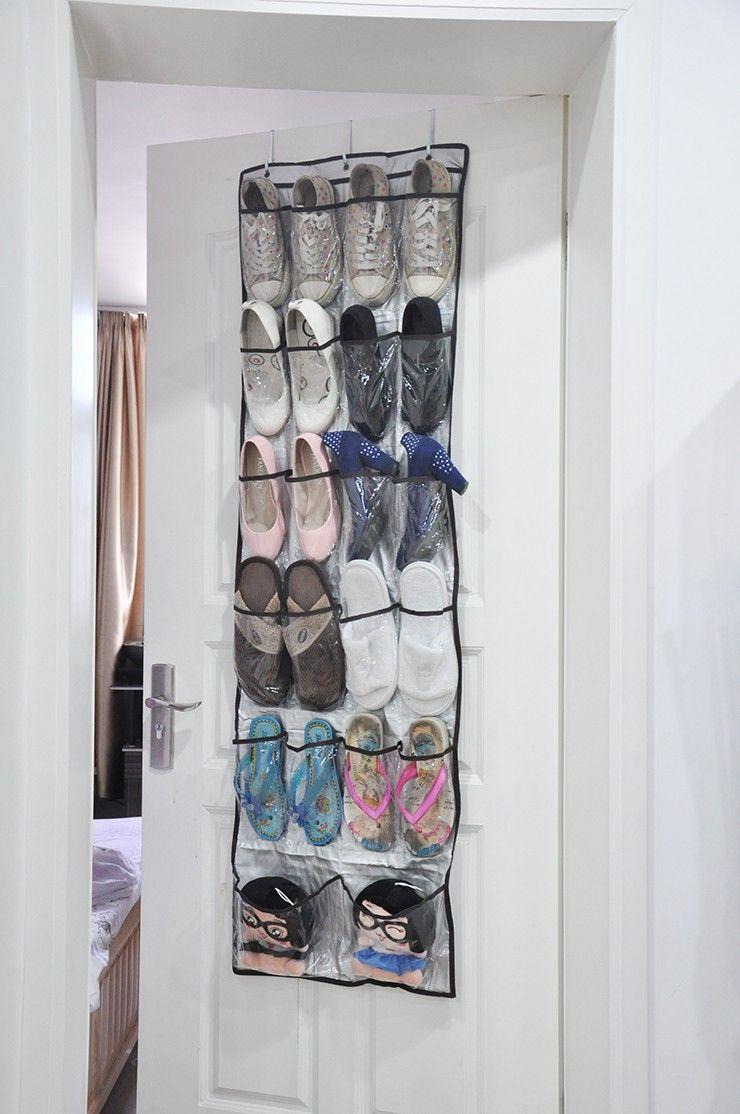 Lesort Over the Door Hanging Shoe Pockets Organizer Storage Holder Sorter For 22 Pairs Shoes Smart & Lesort Over the Door Hanging Shoe Pockets Organizer Storage Holder ...