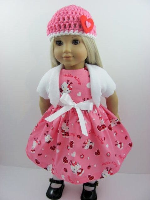 Hello Kitty Hearts Doll Dress Set for the American Girl Doll