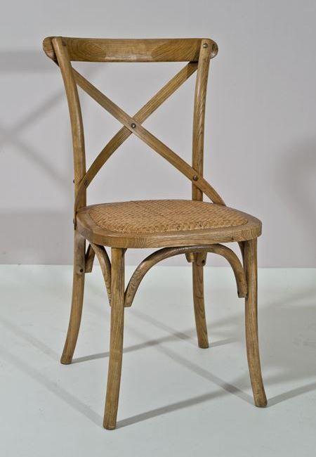 Silla de comedor cruz roble de bambó blau. de madera de roble y ...