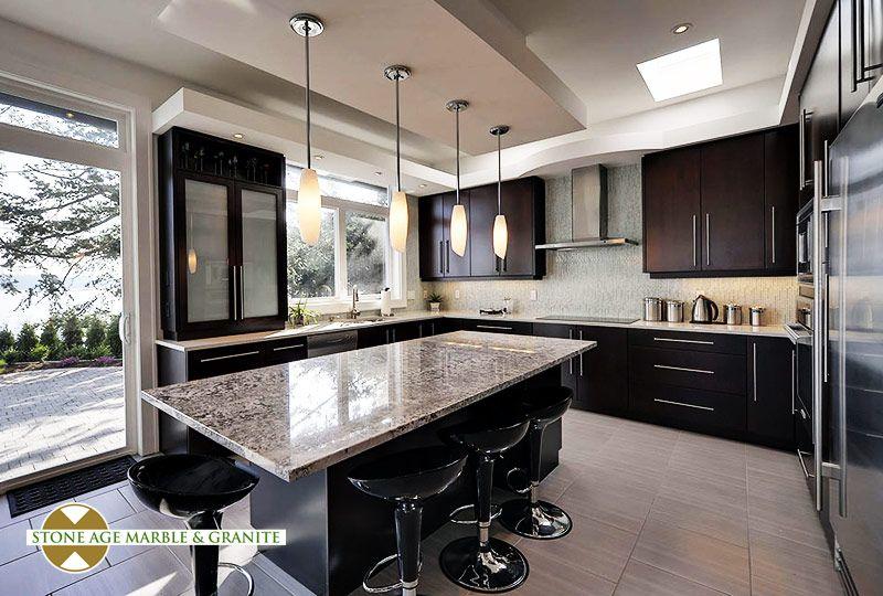 Best Bianco Antico Granite With The Espresso Cabinets Kitchen 400 x 300