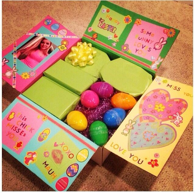 Easter package care package box decoration pinterest easter easter package college care packagespackage boxbf giftswork negle