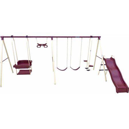 Flexible Flyer Play Park Metal Swing Set Playground Swingset