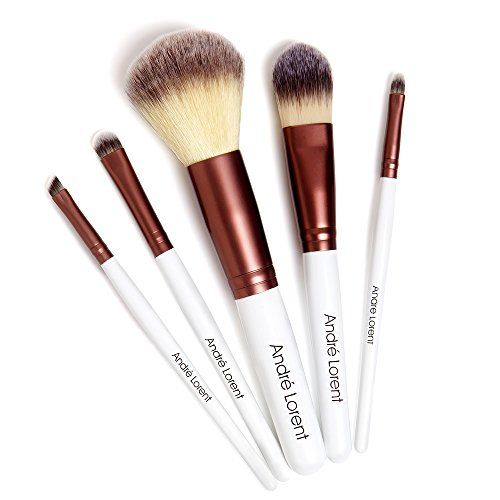 #1 PRO Makeup Brush Set With Gorgeous Designer Case - Includes 5 Professional Makeup Brushes. Lifetime Guarantee. Best Quality Brushes for Eye Makeup and Face - Top Choice of Pro Makeup Artists