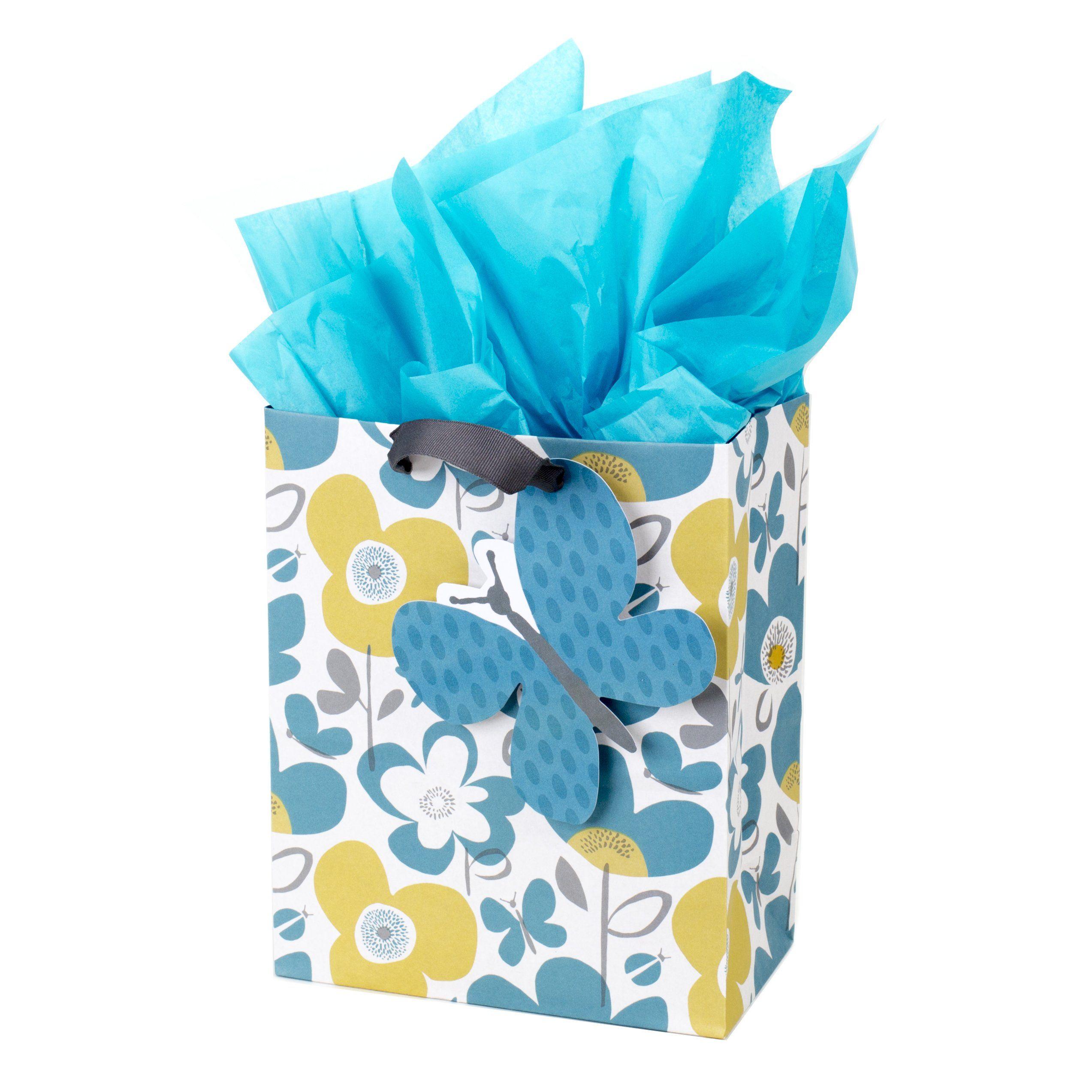 Hallmark medium gift bag with tissue paper butterfly