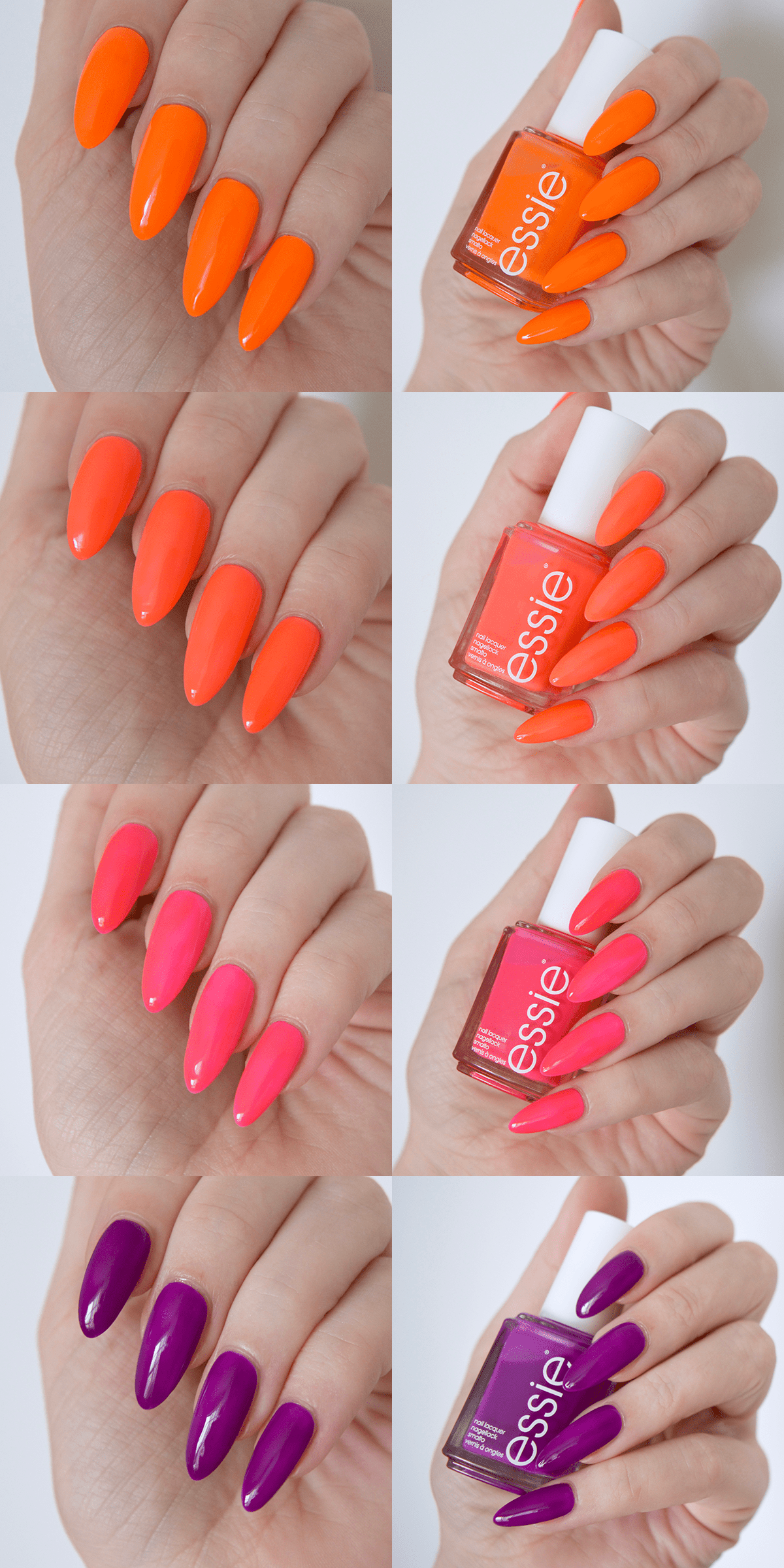 Essie Neon 2017 Review With Swatches | Swatch, Neon and Essie nail ...