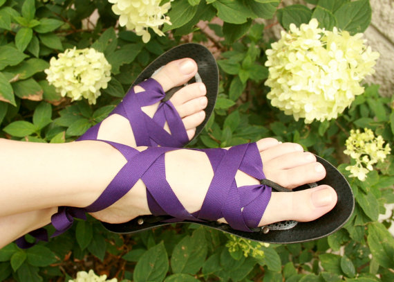 Flat Thong MOPED by Mohop Interchangeable Handmade Shoes by mohop, $60.00