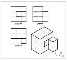 Resultado De Imagen De Laminas De Vistas Para Hacer En Isometrica Ejercicios De Dibujo Tecnicas De Dibujo Vistas Dibujo Tecnico