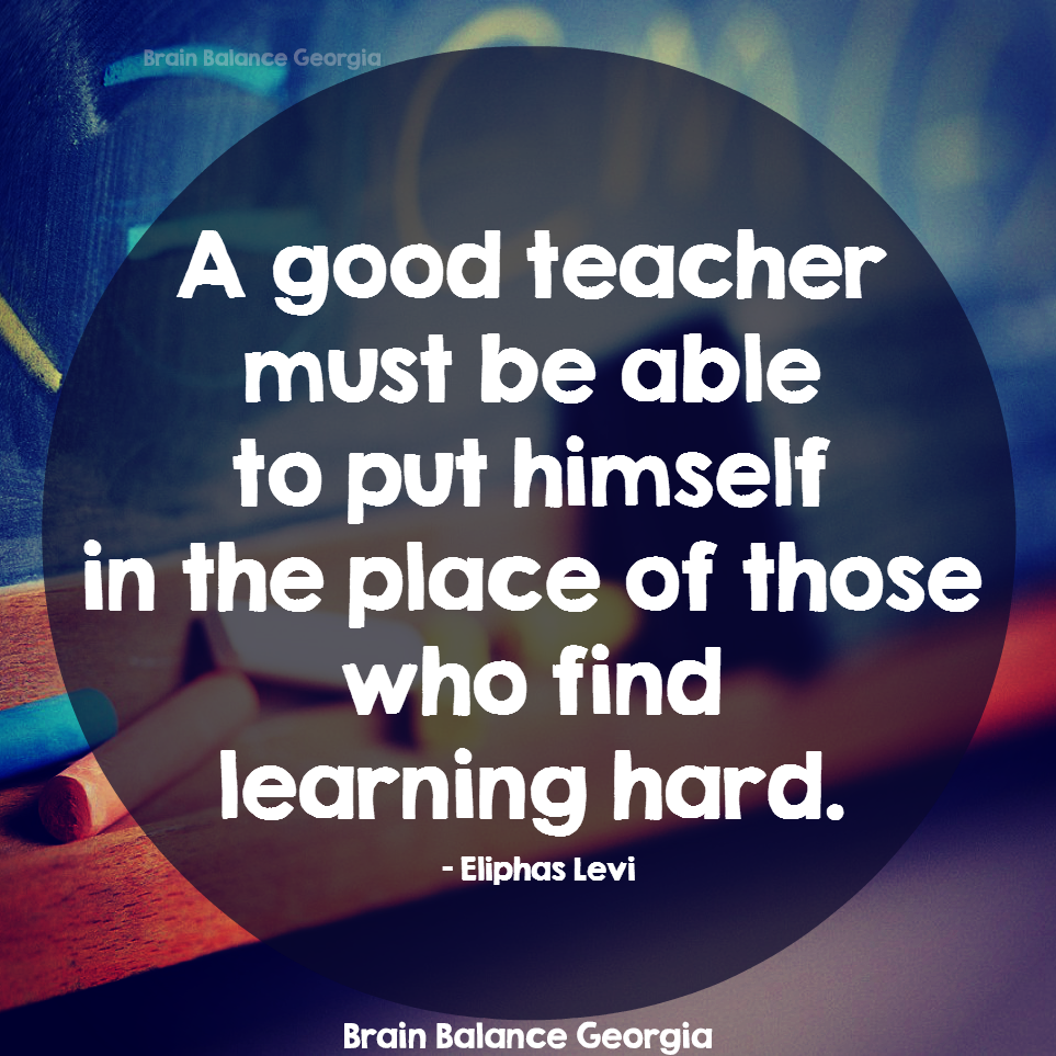 A good #teacher must be able to put himself in the place of those ...