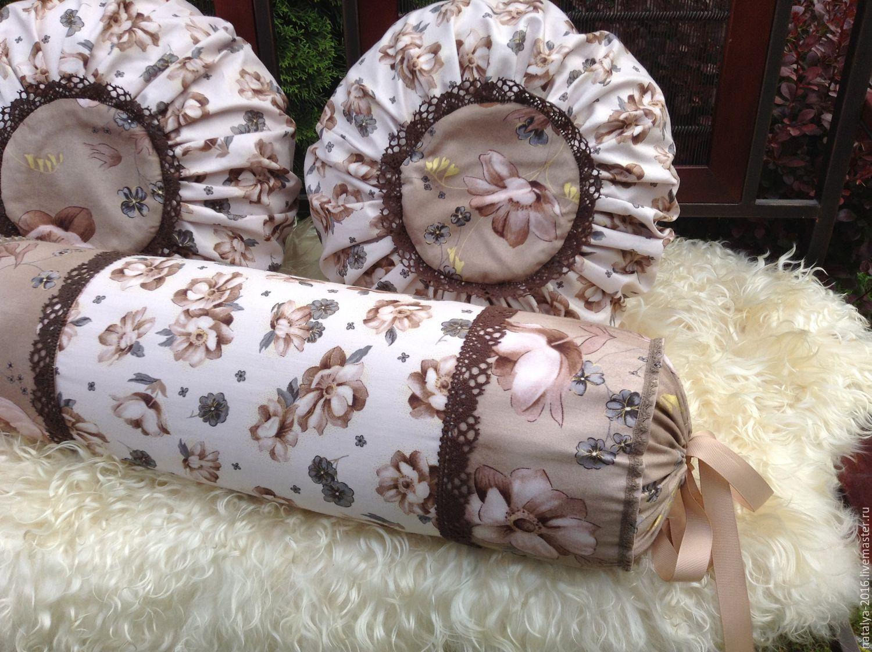 """Купить Набор подушек """" Летнее настроение """" - комбинированный, авторская ручная…"""