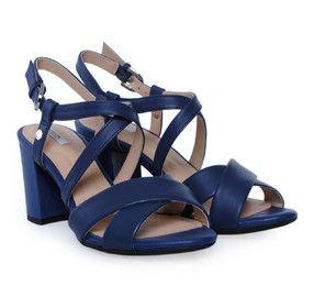 356205fca3b GEOX (NESA) Dark Blue Leather Sandals. Μπλε γυναικεία δερμάτινα πέδιλα.