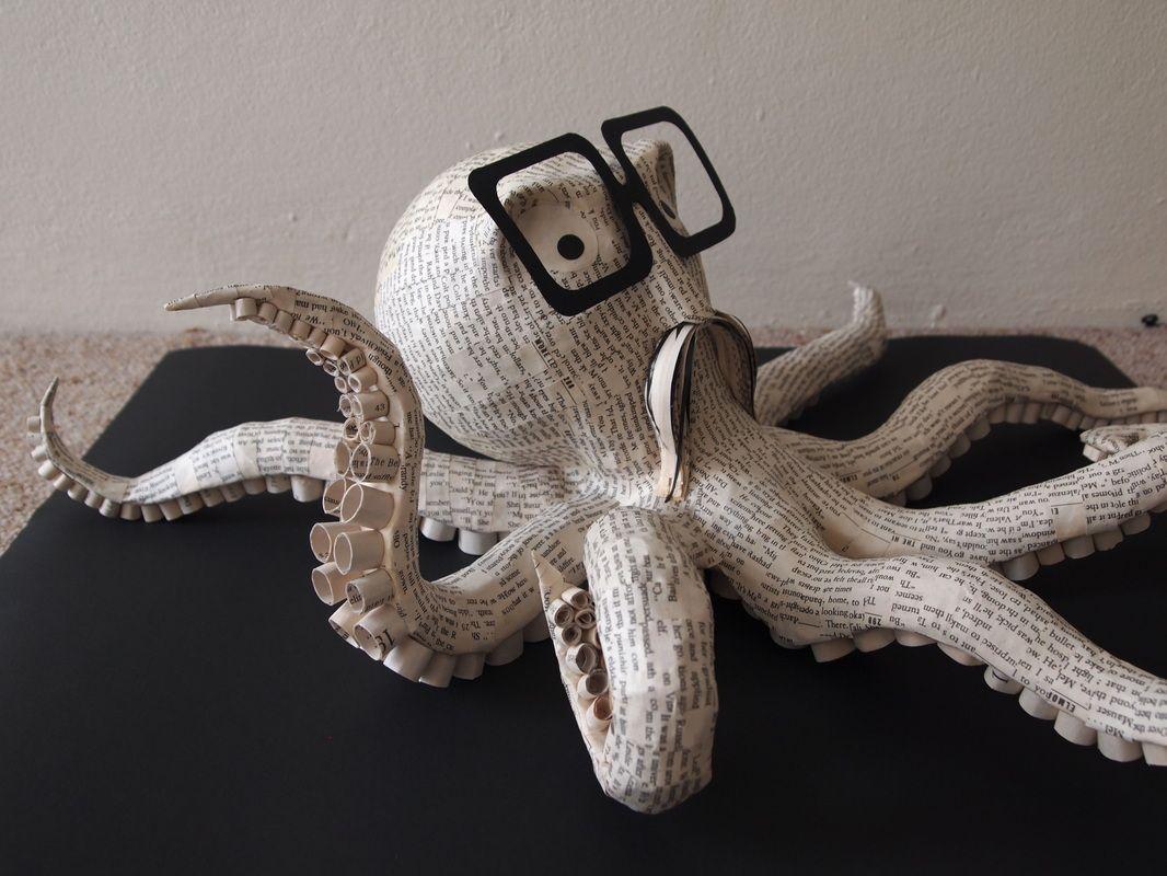 Octopus paper mache sculpture janaki lele papel mach 3 pinterest paper mache - Sculptures en papier mache ...