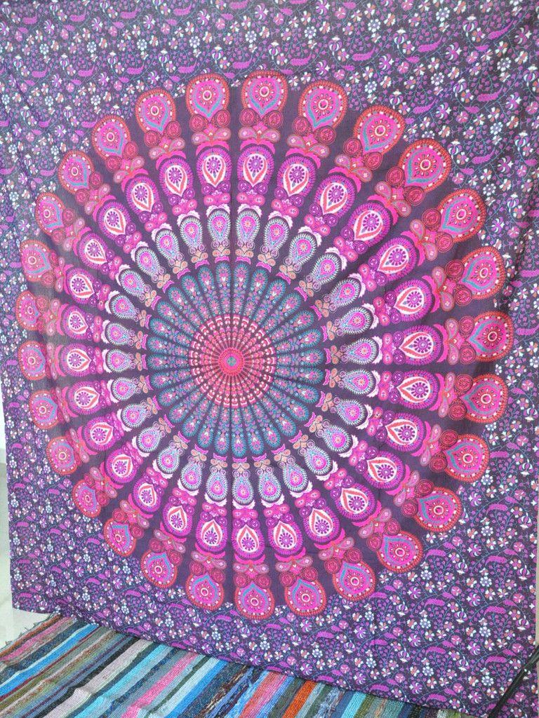 Queen Hippie Hippy Wall Hanging Indian Mandala