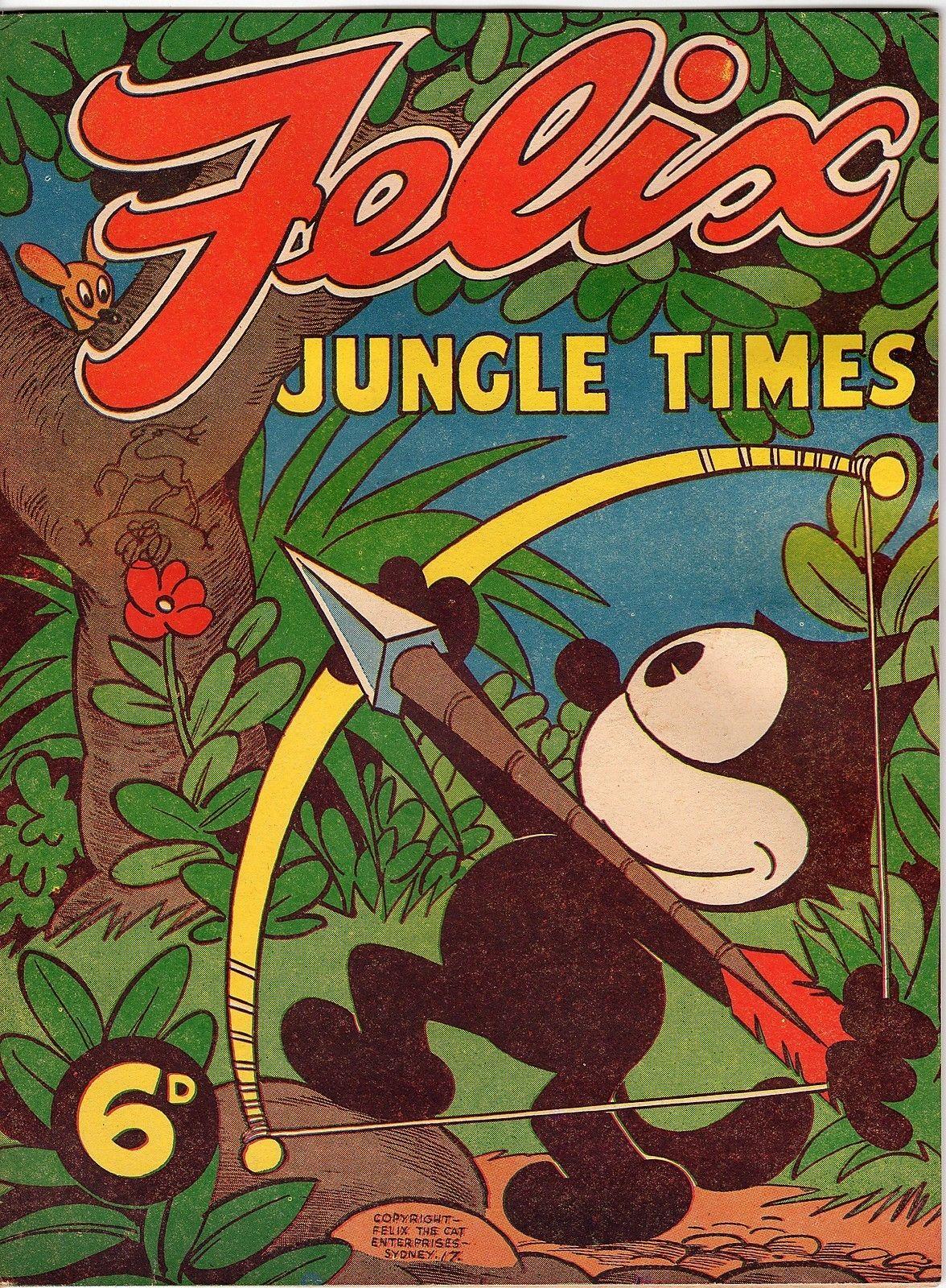 Felix 17 Jungle Times Golden Age Australian Ebay Felix The Cats Golden Age Comic Drawing
