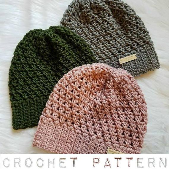 The Riley Hat Pattern Crochet Pattern Crochet Slouchy Beanie